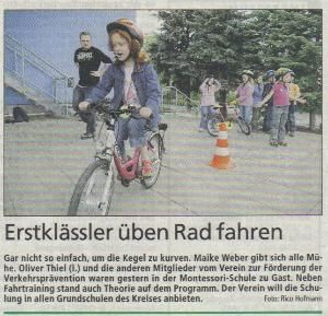 Pressebericht der Sächsischen Zeitung über Präventionsaktion an der Maria-Montessori-Grundschule in Bautzen